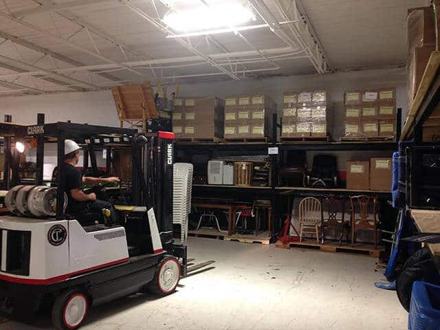 Constructeam Contents Specialist Moving Items With Forklift